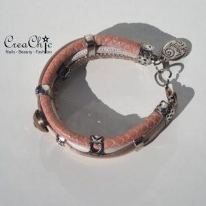 Armband Laugh Often roze steen diamant