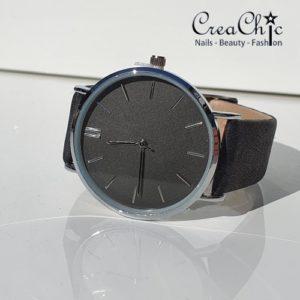 Horloge zwart zilver
