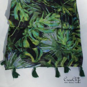 Sjaal jungle bladeren