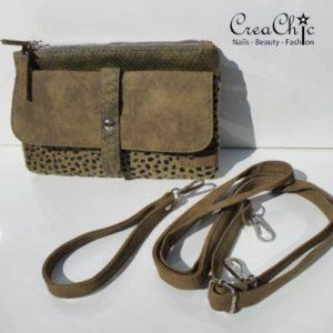 Tasje cheetah groen